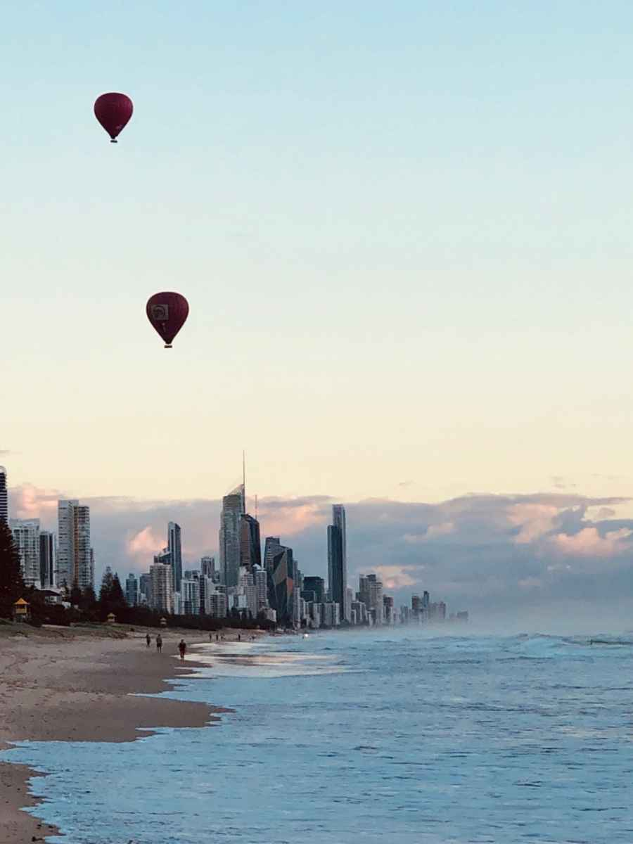 Nobby Beach view to Surfers Paradise