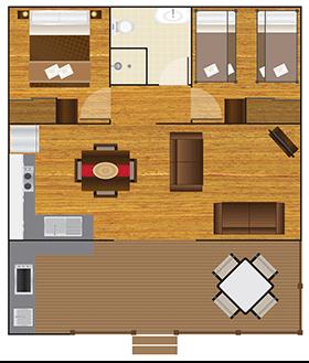 Deluxe Tropical Villa Floorplan
