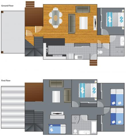 Floorplan - Garden Penthouse 12B Sleeps 12