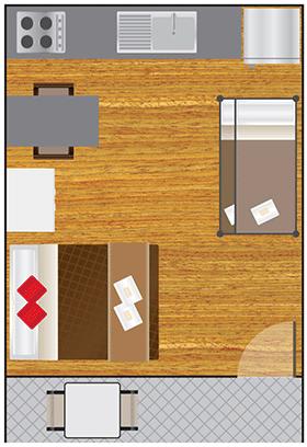 Basic Studio 4 Berth Floorplan