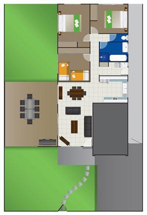 Garden House 8 berth Floorplan