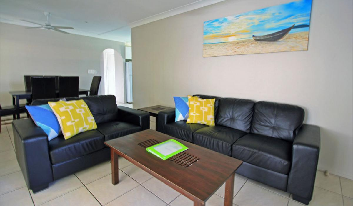 Living Room of Garden House at Nobby Beach Holiday Village