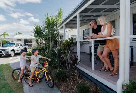 Families enjoying our Deluxe Tropical Villas