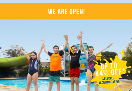 We are OPEN - up to 44% off selected accommodation!