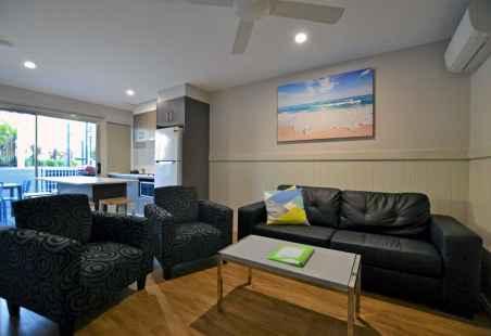 Poolside Penthouse Living Area